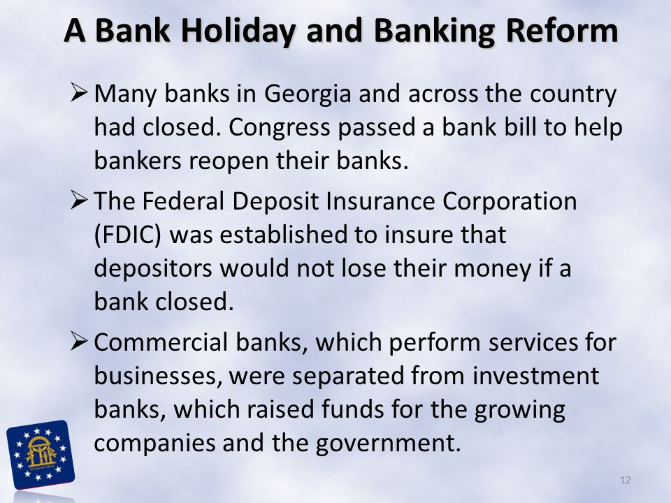 A Bank Holiday and Banking Reform