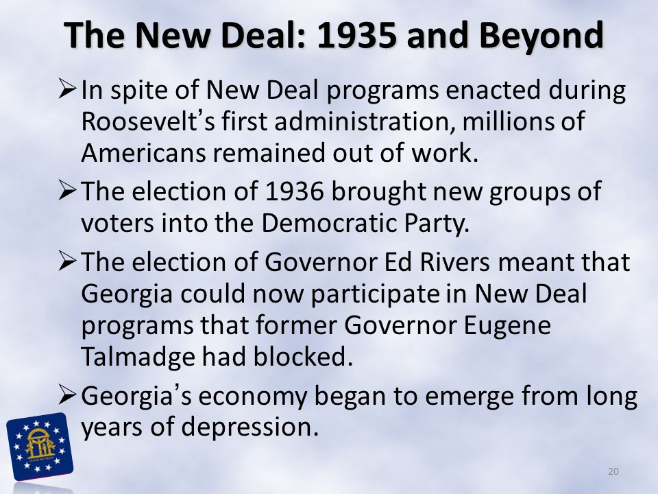 The New Deal: 1935 and Beyond
