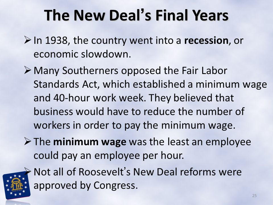 The New Deal's Final Years