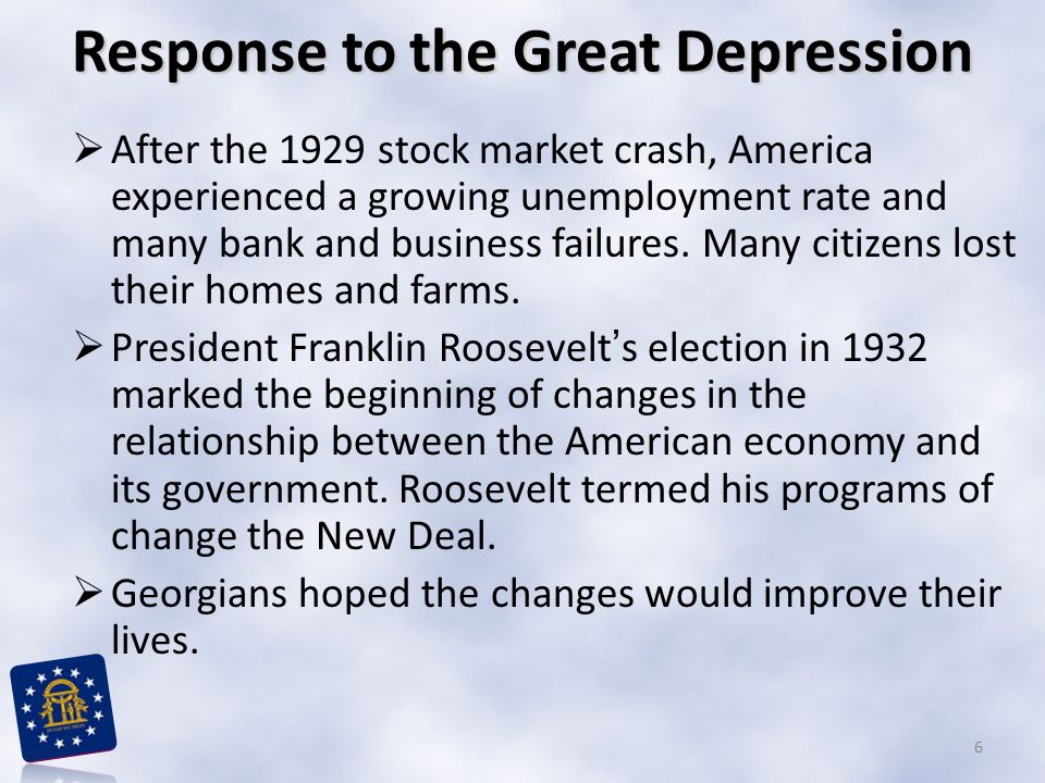 Response to the Great Depression