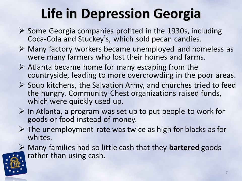 Life in Depression Georgia
