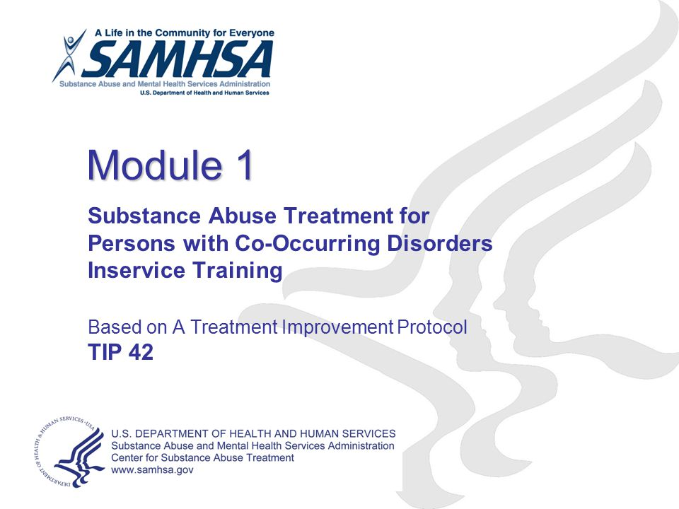 Module 1 Substance Abuse Treatment for Persons with Co-Occurring Disorders Inservice Training. Based on A Treatment Improvement Protocol.