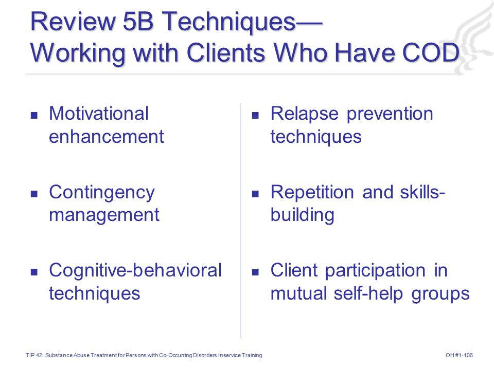 Review 5B Techniques— Working with Clients Who Have COD