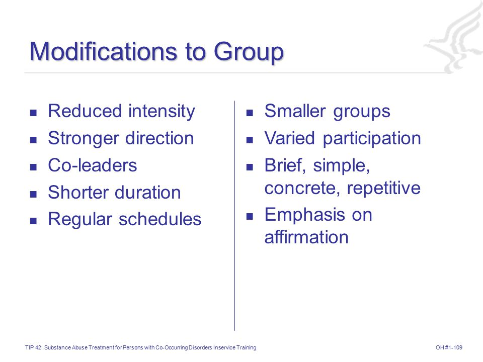 Modifications to Group