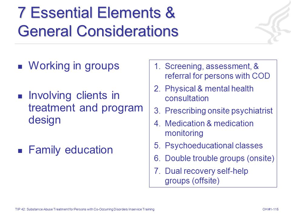 7 Essential Elements & General Considerations