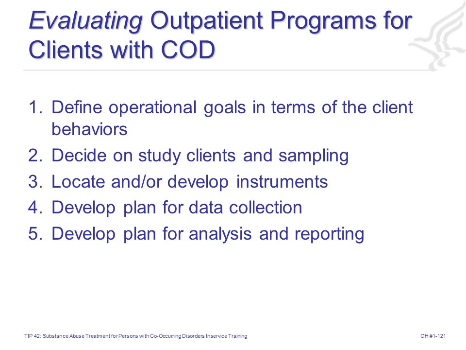 Evaluating Outpatient Programs for Clients with COD