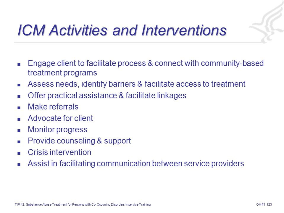 ICM Activities and Interventions