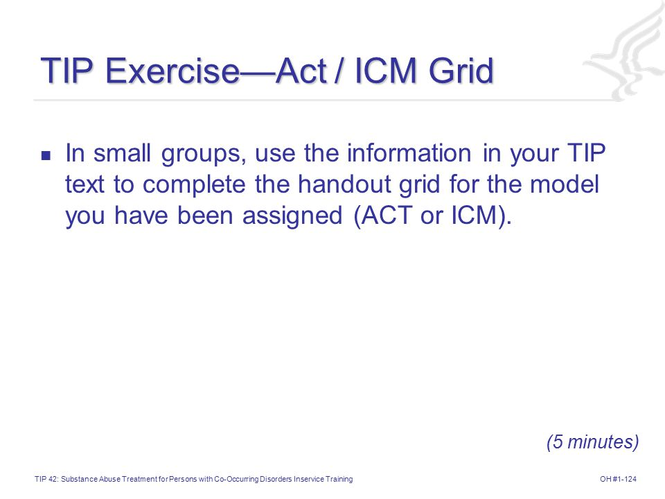 TIP Exercise—Act / ICM Grid