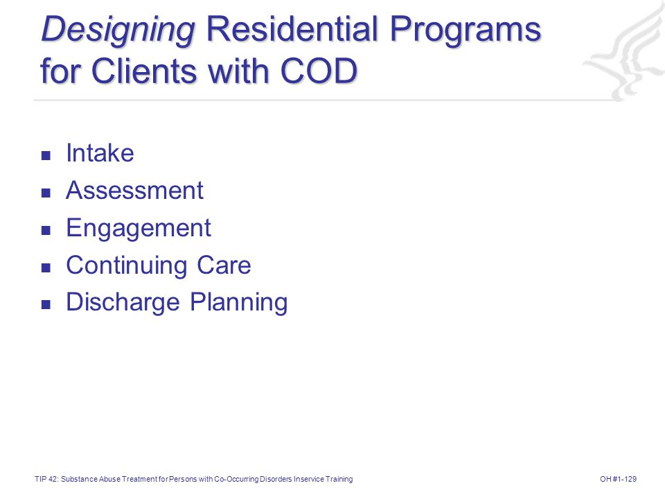 Designing Residential Programs for Clients with COD
