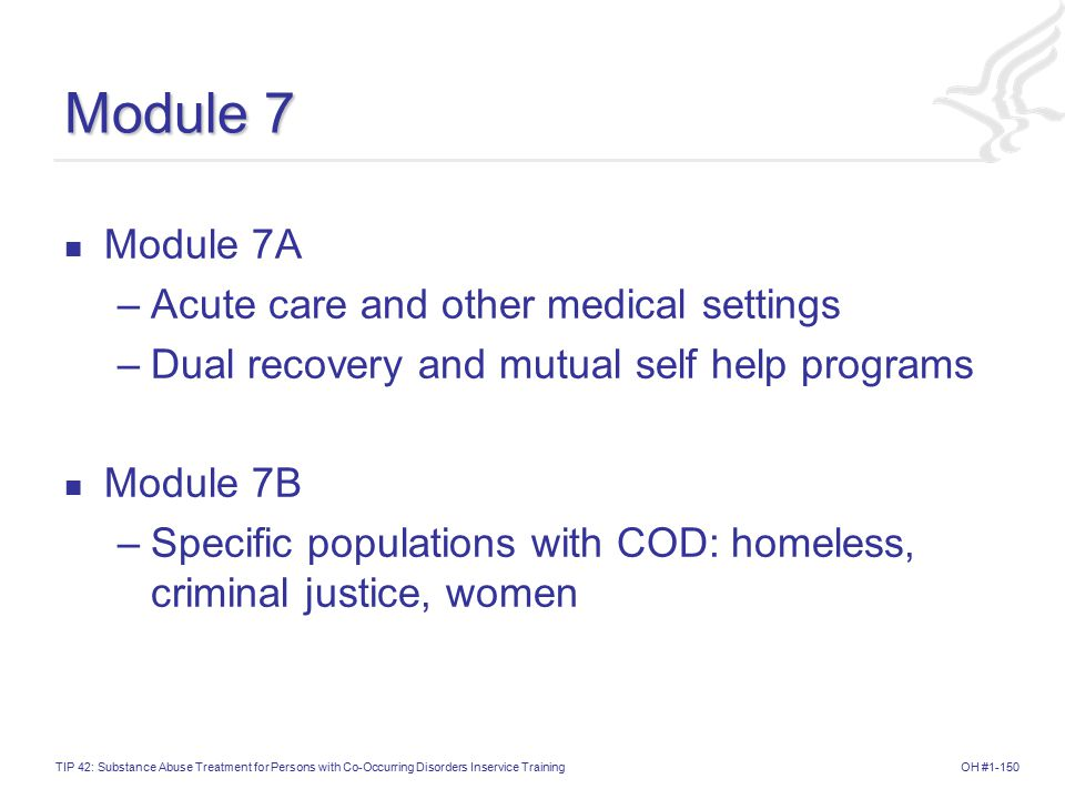 Module 7 Module 7A Acute care and other medical settings