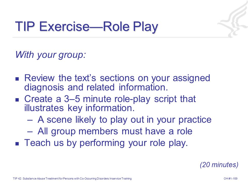 TIP Exercise—Role Play