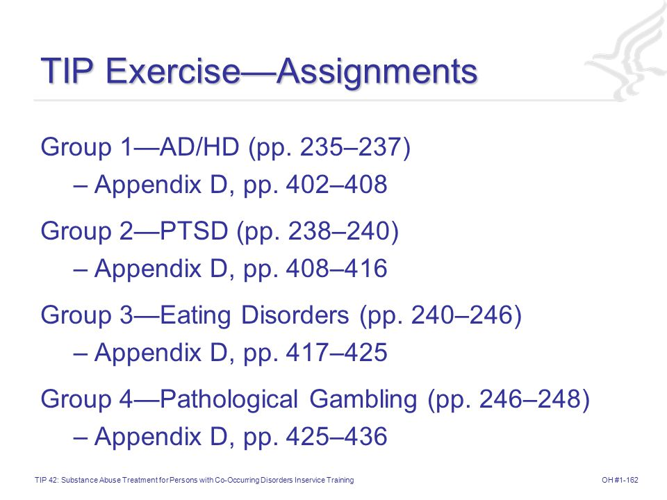 TIP Exercise—Assignments