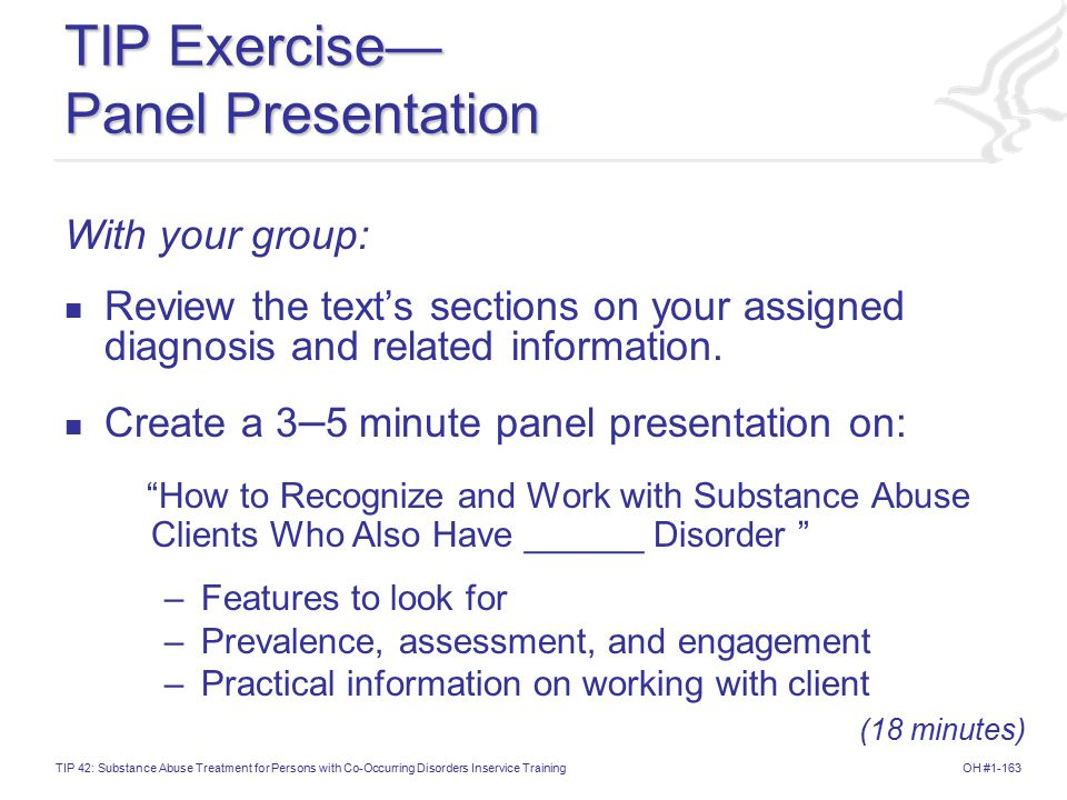 TIP Exercise— Panel Presentation