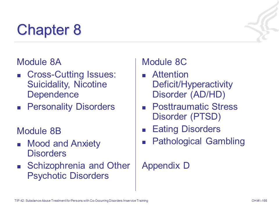 Chapter 8 Module 8A. Cross-Cutting Issues: Suicidality, Nicotine Dependence. Personality Disorders.