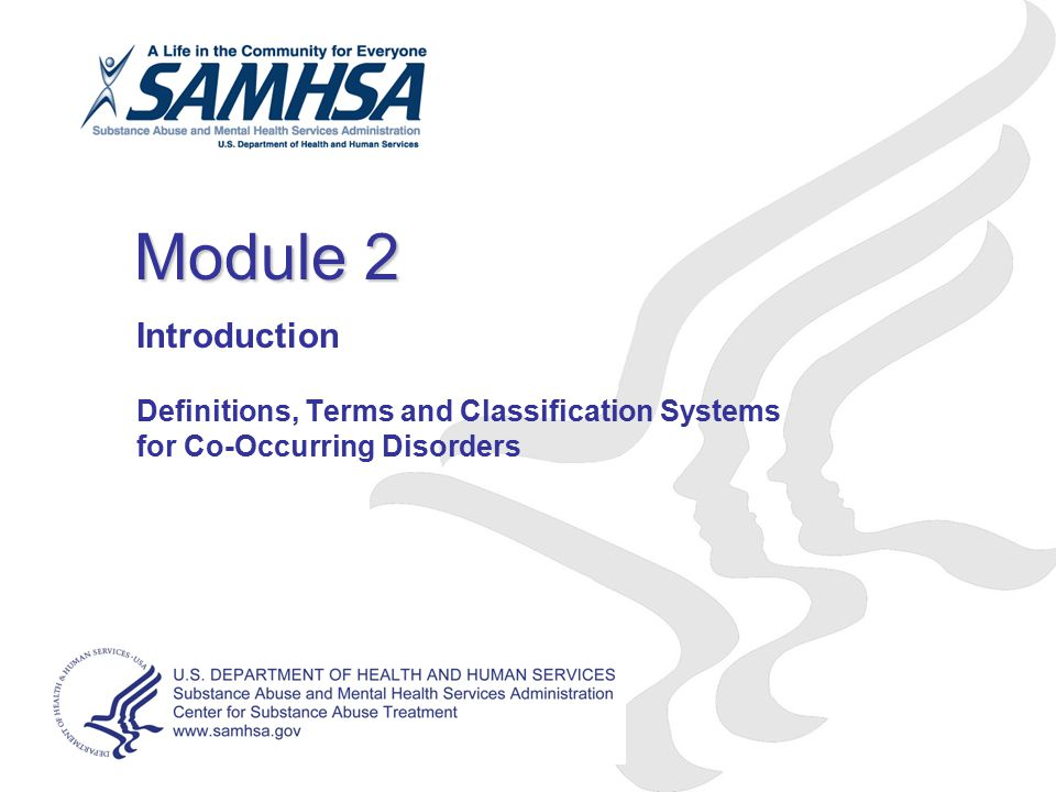 Module 2 Introduction Definitions, Terms and Classification Systems for Co-Occurring Disorders