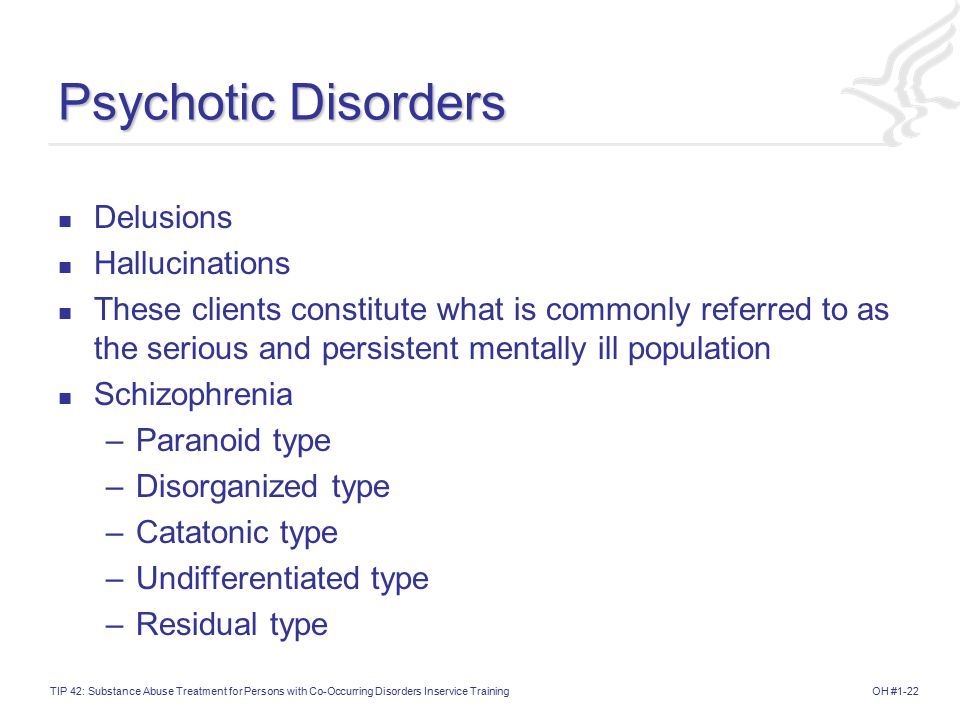 Psychotic Disorders Delusions Hallucinations