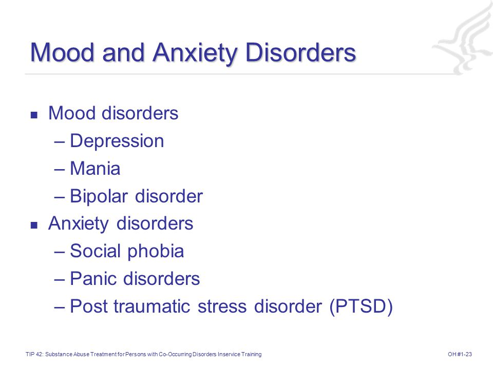 Mood and Anxiety Disorders