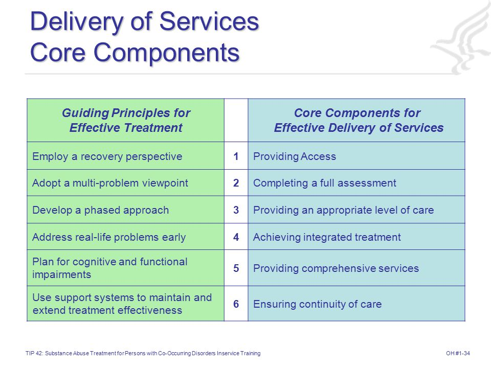 Delivery of Services Core Components