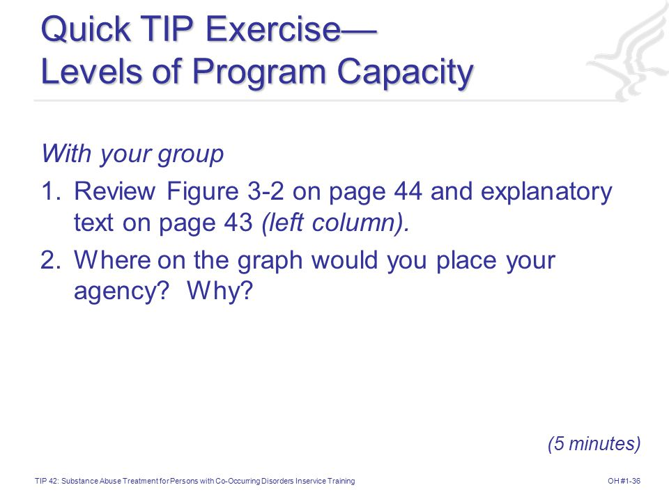Quick TIP Exercise— Levels of Program Capacity