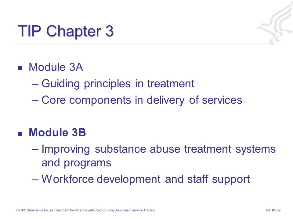 TIP Chapter 3 Module 3A Guiding principles in treatment