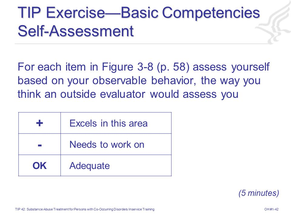 TIP Exercise—Basic Competencies Self-Assessment
