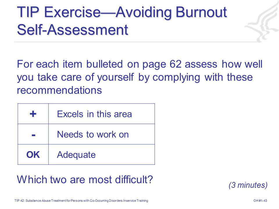 TIP Exercise—Avoiding Burnout Self-Assessment