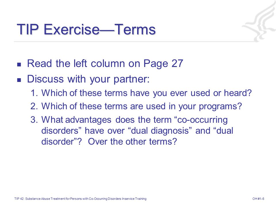 TIP Exercise—Terms Read the left column on Page 27