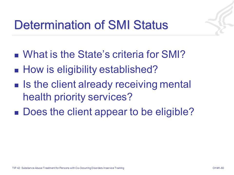 Determination of SMI Status