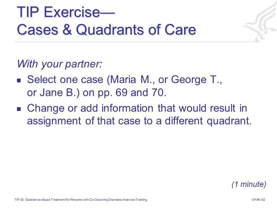TIP Exercise— Cases & Quadrants of Care