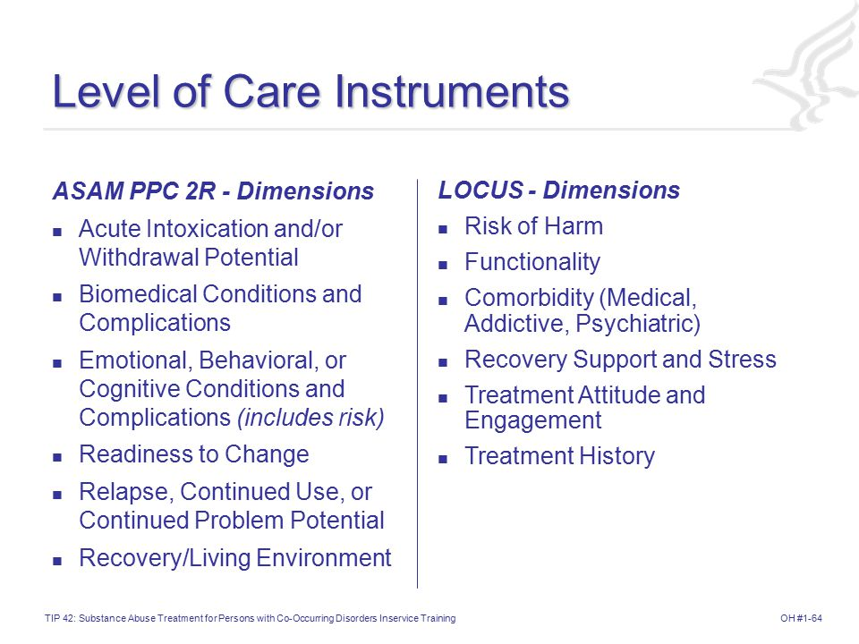 Level of Care Instruments