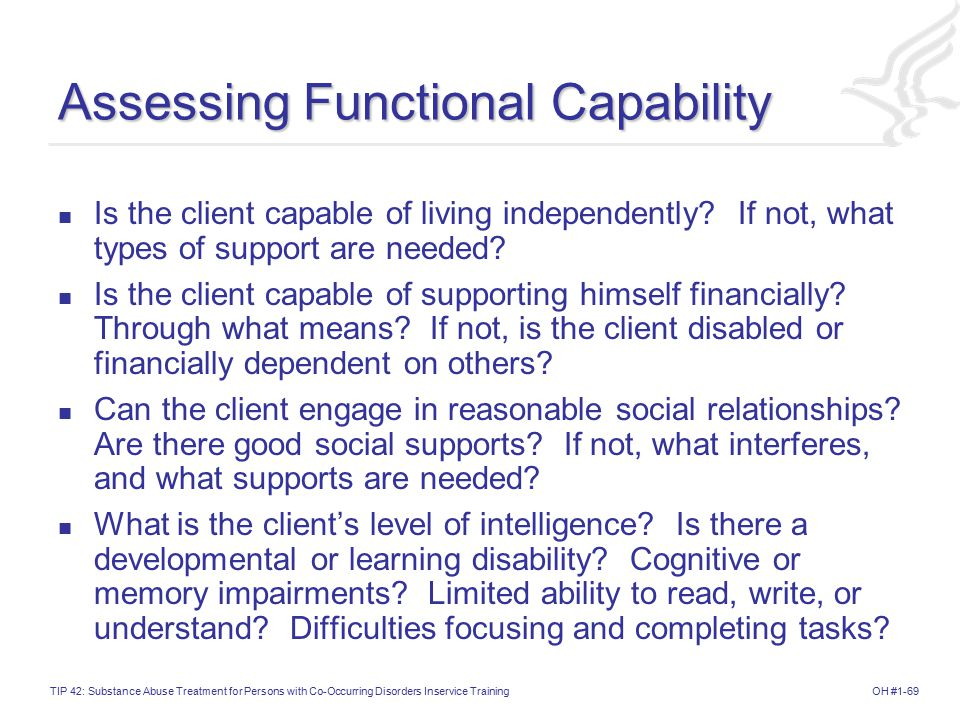 Assessing Functional Capability