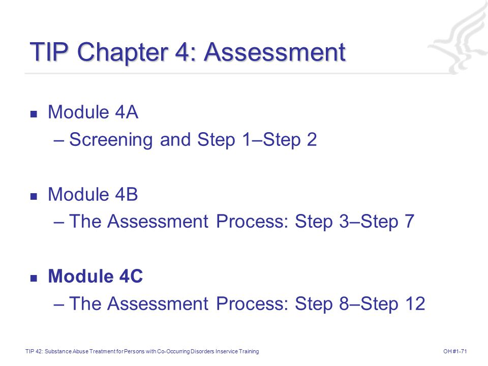 TIP Chapter 4: Assessment