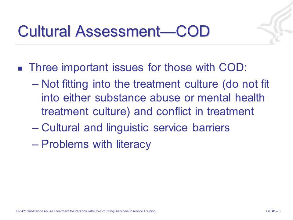 Cultural Assessment—COD