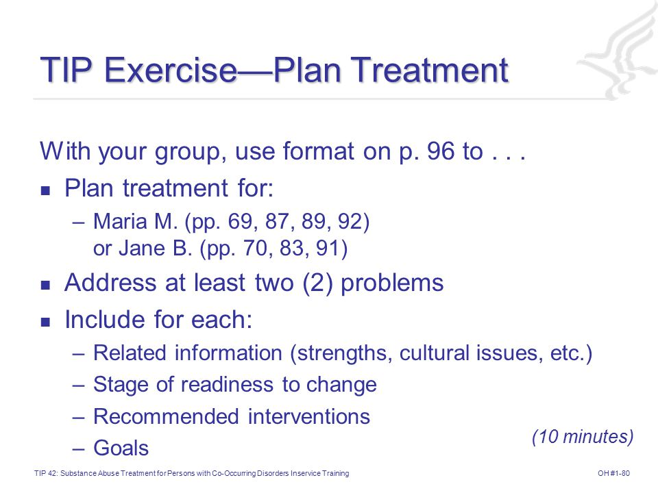 TIP Exercise—Plan Treatment