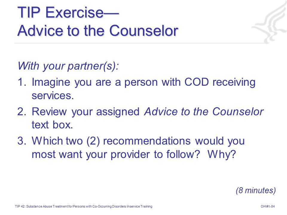 TIP Exercise— Advice to the Counselor