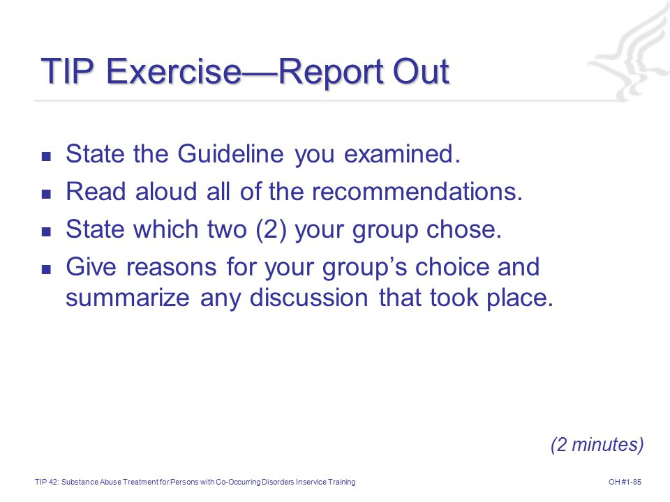 TIP Exercise—Report Out