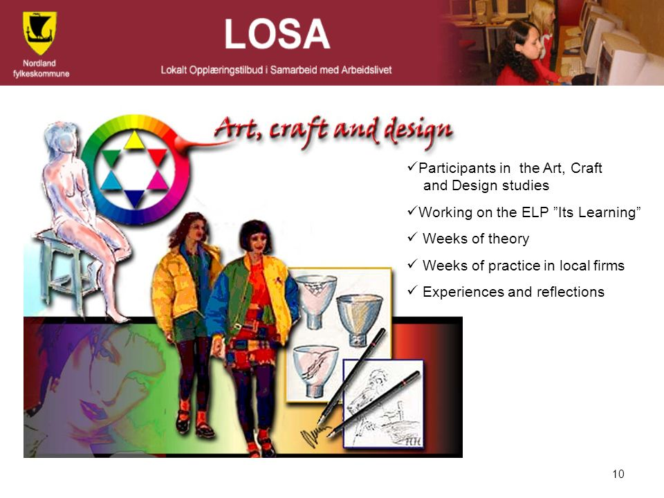 Participants in the Art, Craft and Design studies