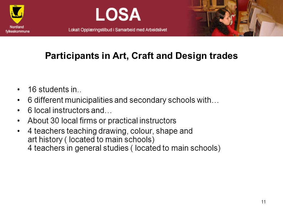 Participants in Art, Craft and Design trades