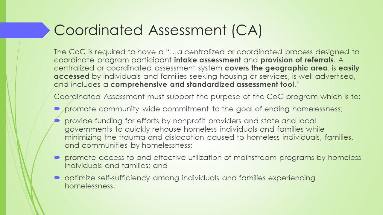 Coordinated Assessment (CA)