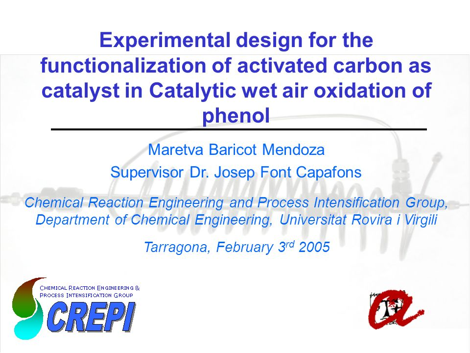 Experimental design for the functionalization of activated carbon as catalyst in Catalytic wet air oxidation of phenol