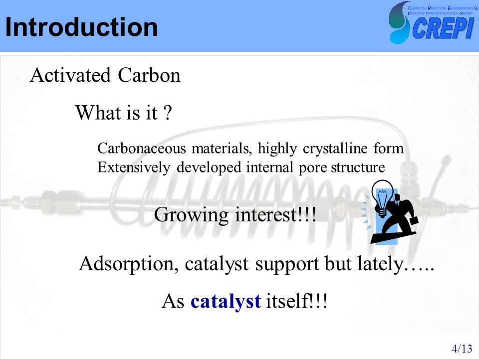 Introduction Activated Carbon What is it Growing interest!!!