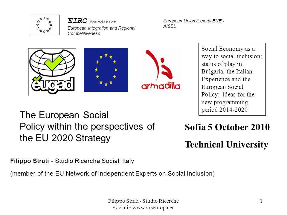 Filippo Strati - Studio Ricerche Sociali - www.srseuropa.eu