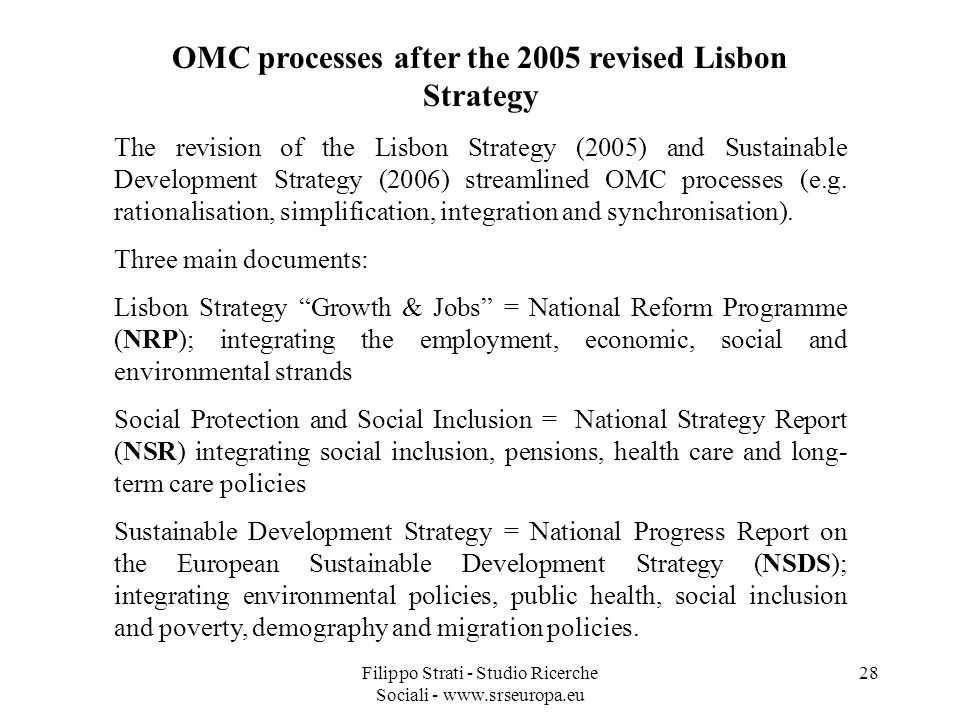 OMC processes after the 2005 revised Lisbon Strategy