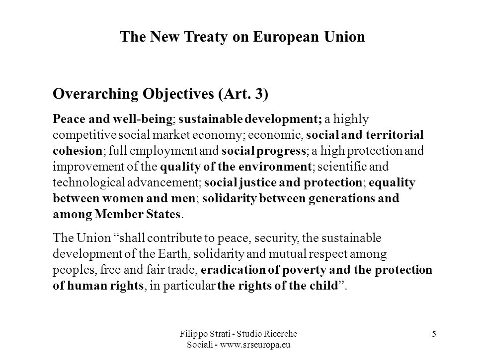 The New Treaty on European Union