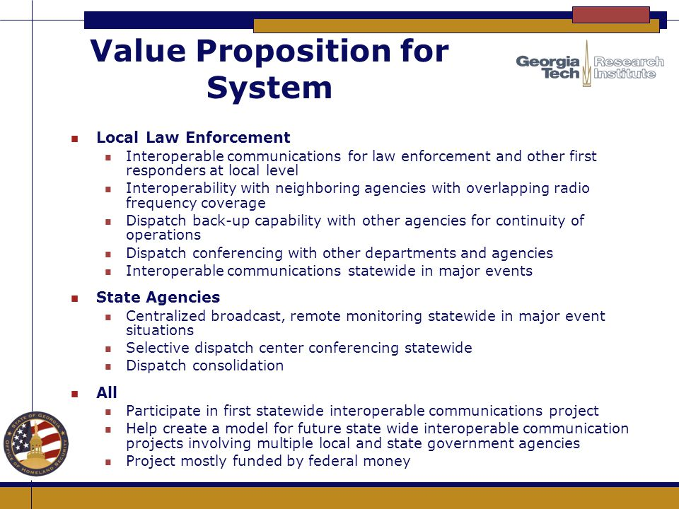 Value Proposition for System