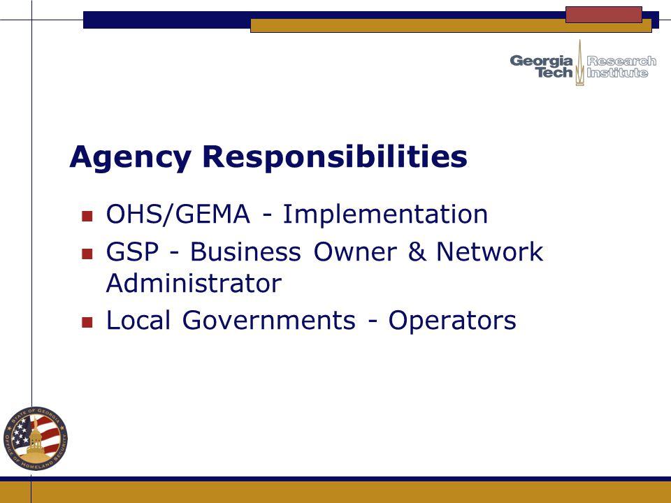 Agency Responsibilities