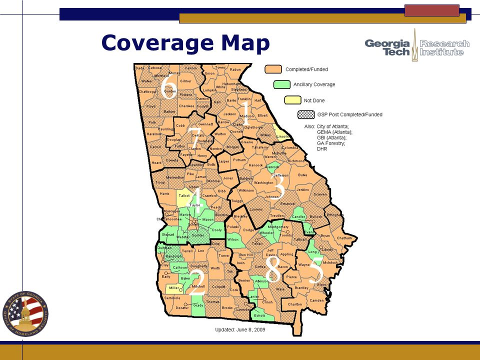 Coverage Map How did the counties get selected