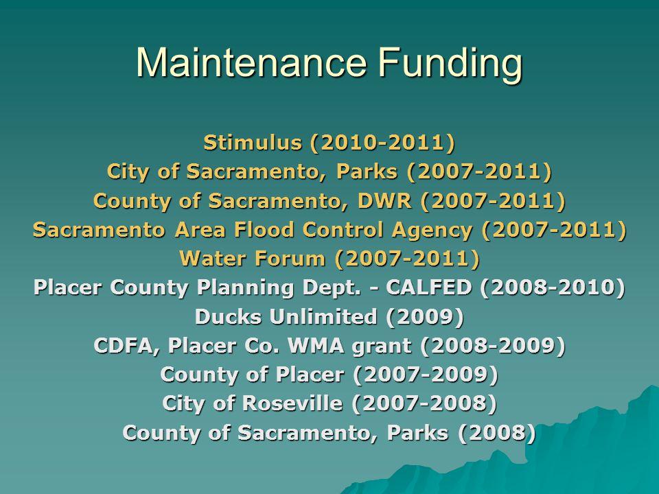 Maintenance Funding Stimulus (2010-2011)