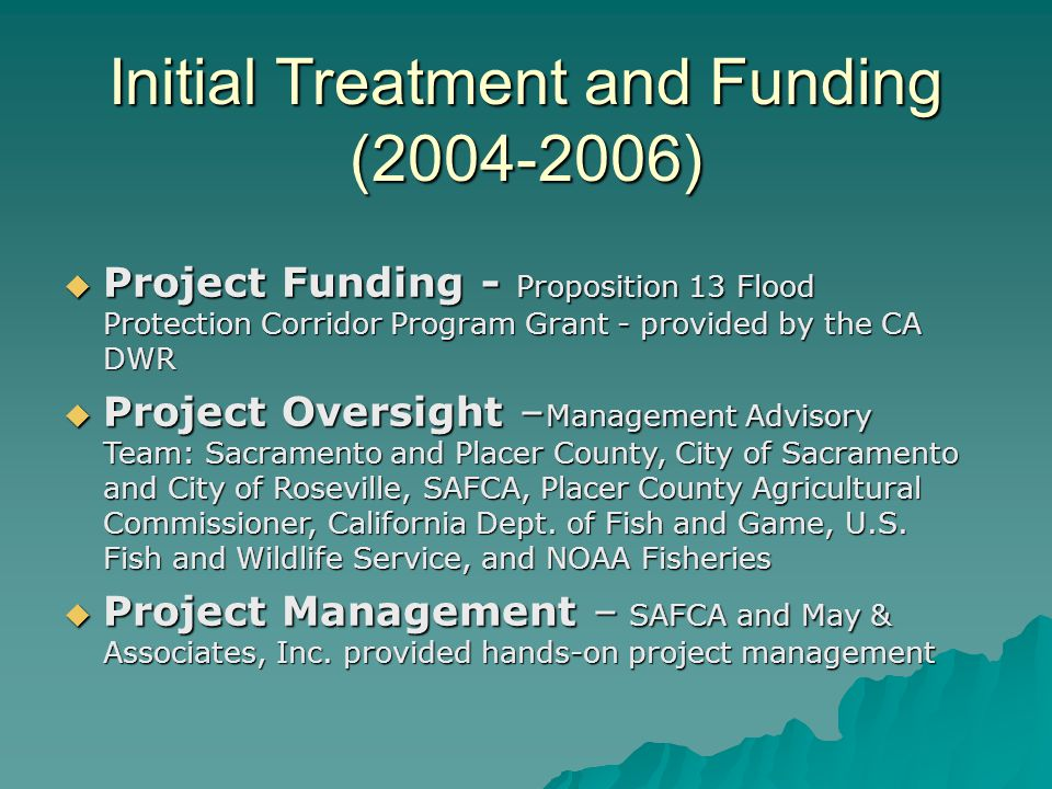 Initial Treatment and Funding (2004-2006)