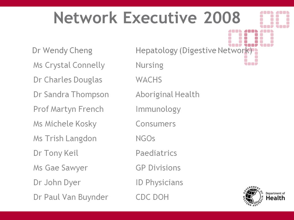 Network Executive 2008 Dr Wendy Cheng Hepatology (Digestive Network)